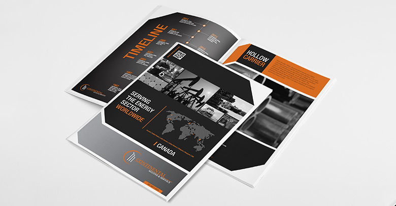 Print project sales collateral for the oil and gas industry.
